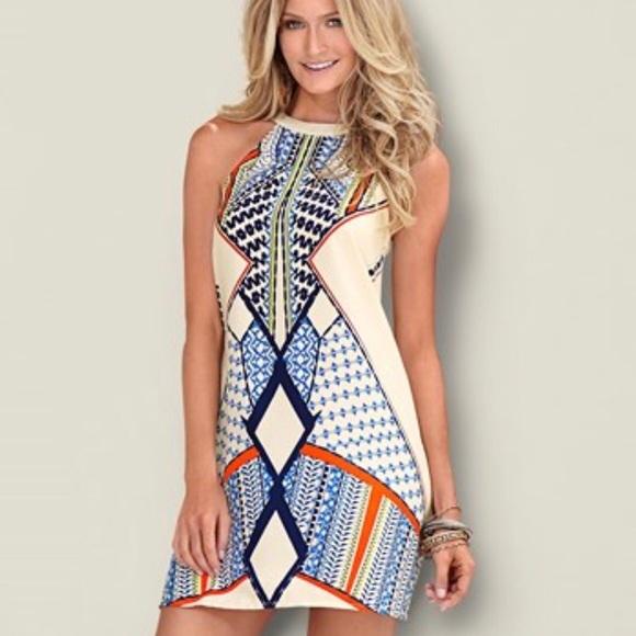 3db91406c079 Print halter dress Venus summer dress